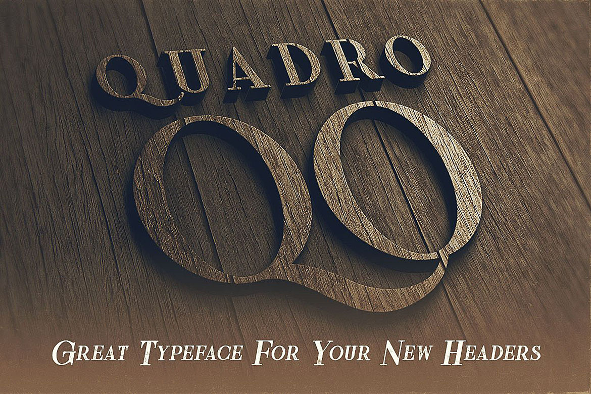 Quadro - Display Font example image 6