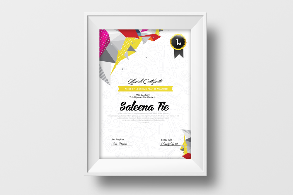 Certificate & Diploma Template example image 2