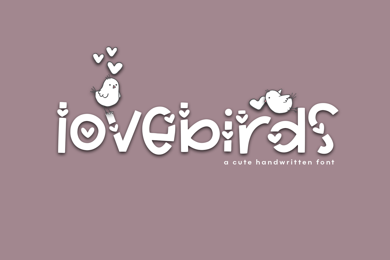 Lovebirds - A Cute Handwritten Font example image 8