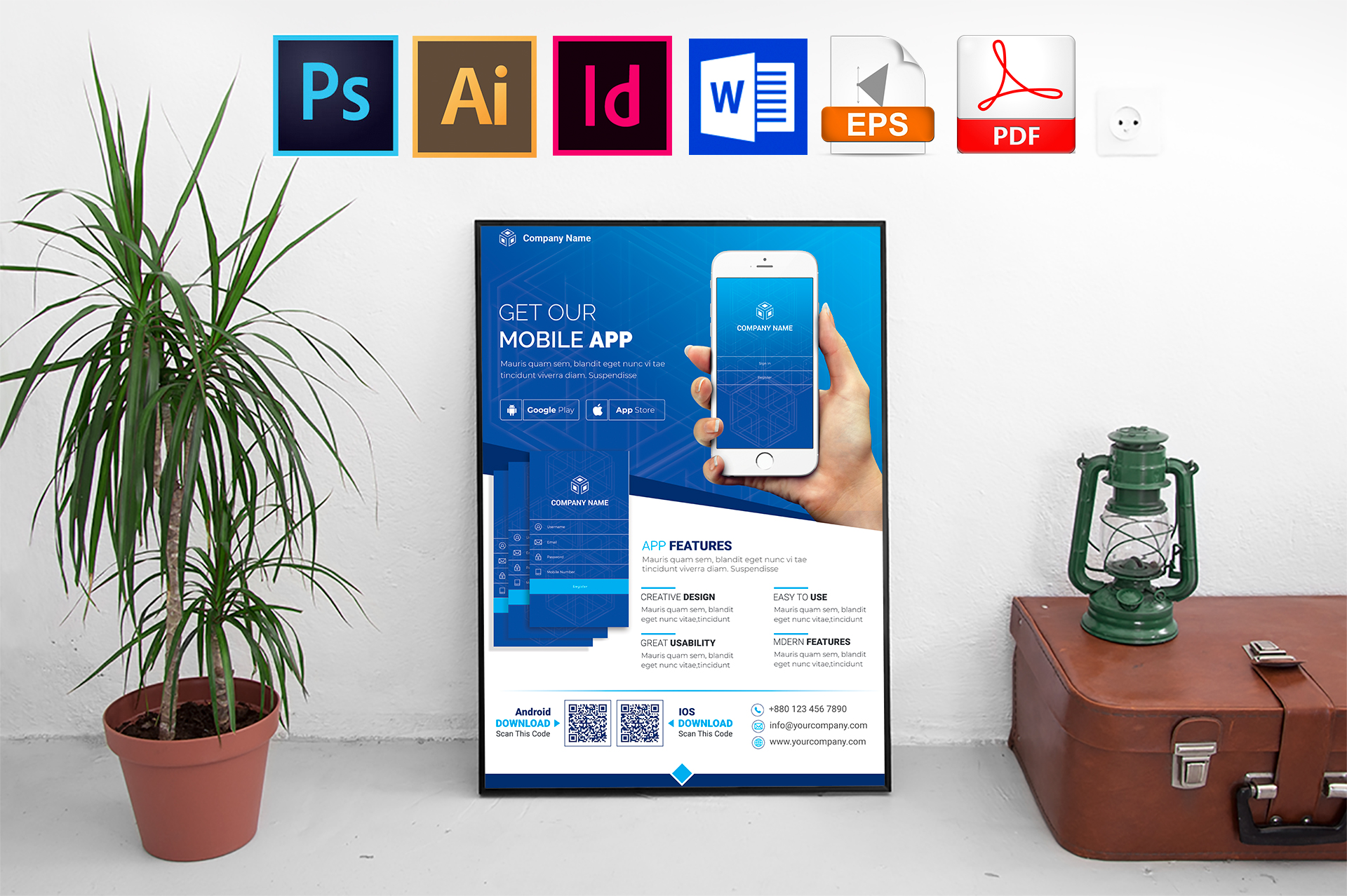 Poster   Mobile App Promotion Vol-03 example image 1