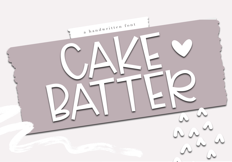 Cake Batter - A Handwritten Font example image 8