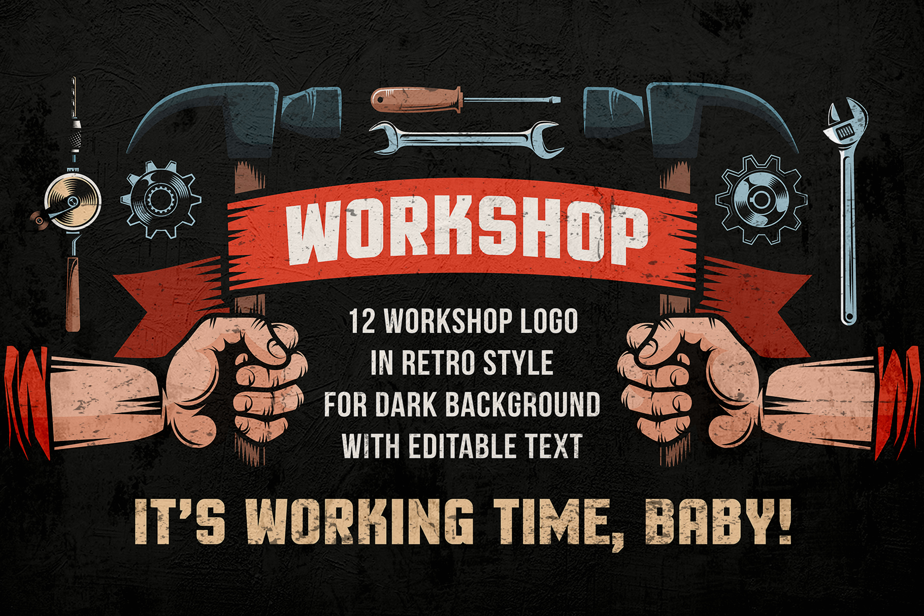 Workshop Color Emblems On Dark example image 1
