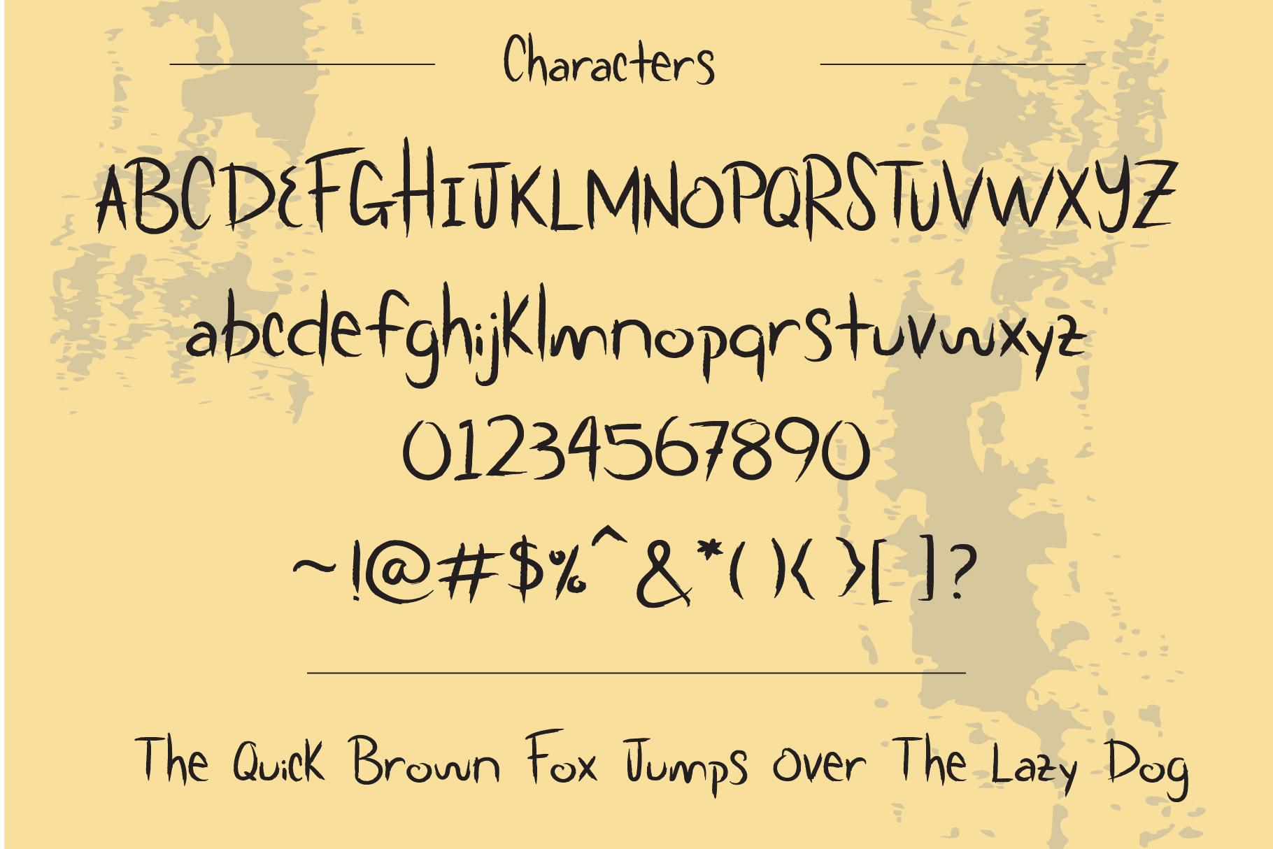 Scratchy Door Halloween Font example image 3