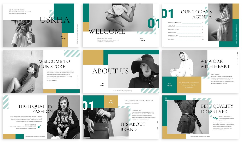 Ushka - Fashion Design Powerpoint Template example image 2