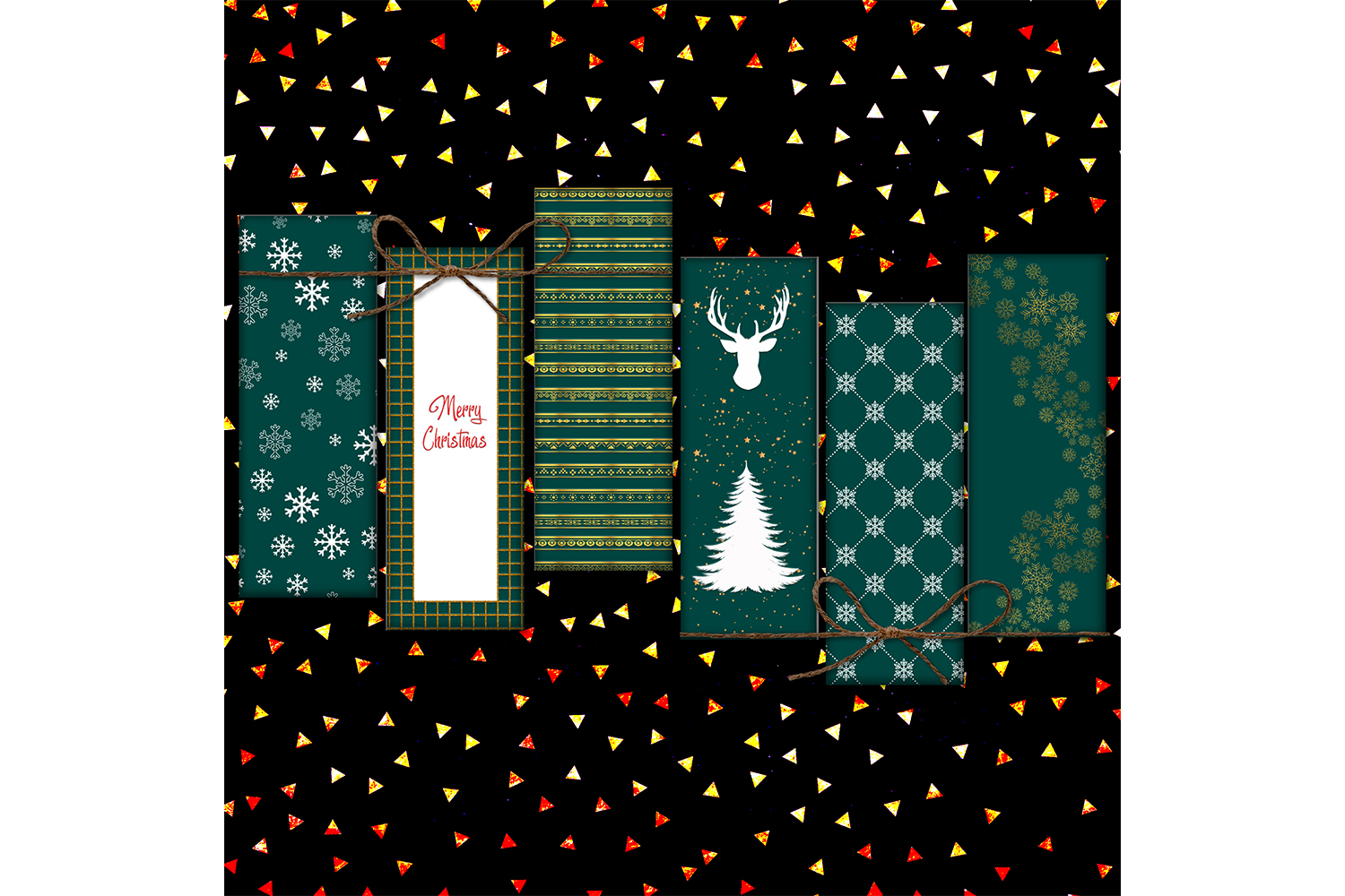 Happy New Year Printable, Merry Christmas Papers, Digital example image 2
