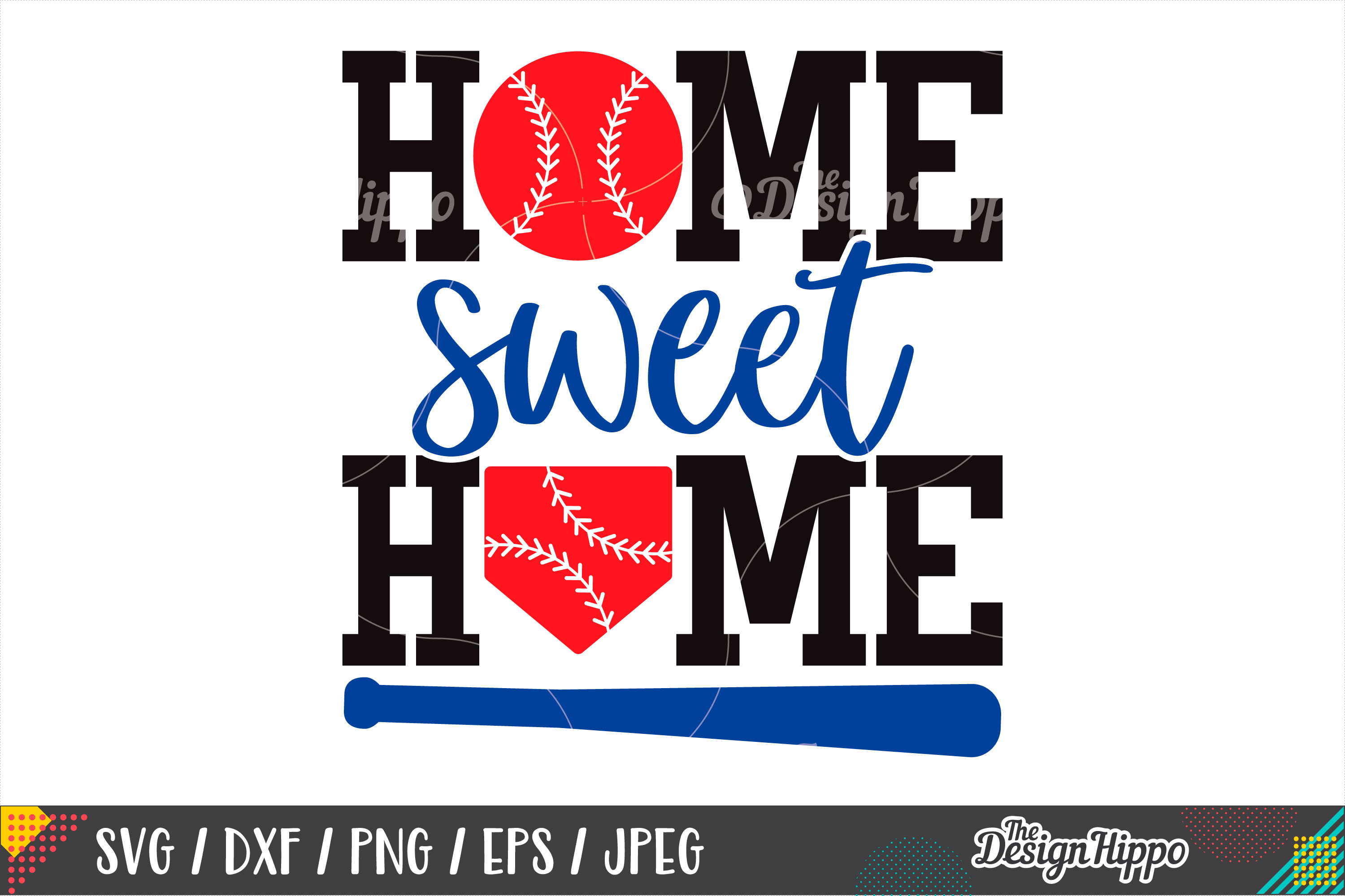 Home Sweet Home SVG, Baseball SVG, Home Plate SVG, DXF, PNG example image 1