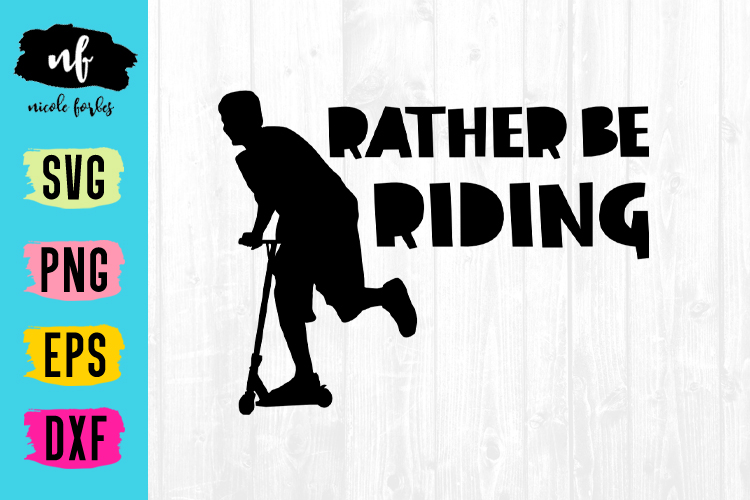 Rather Be Riding SVG example image 1