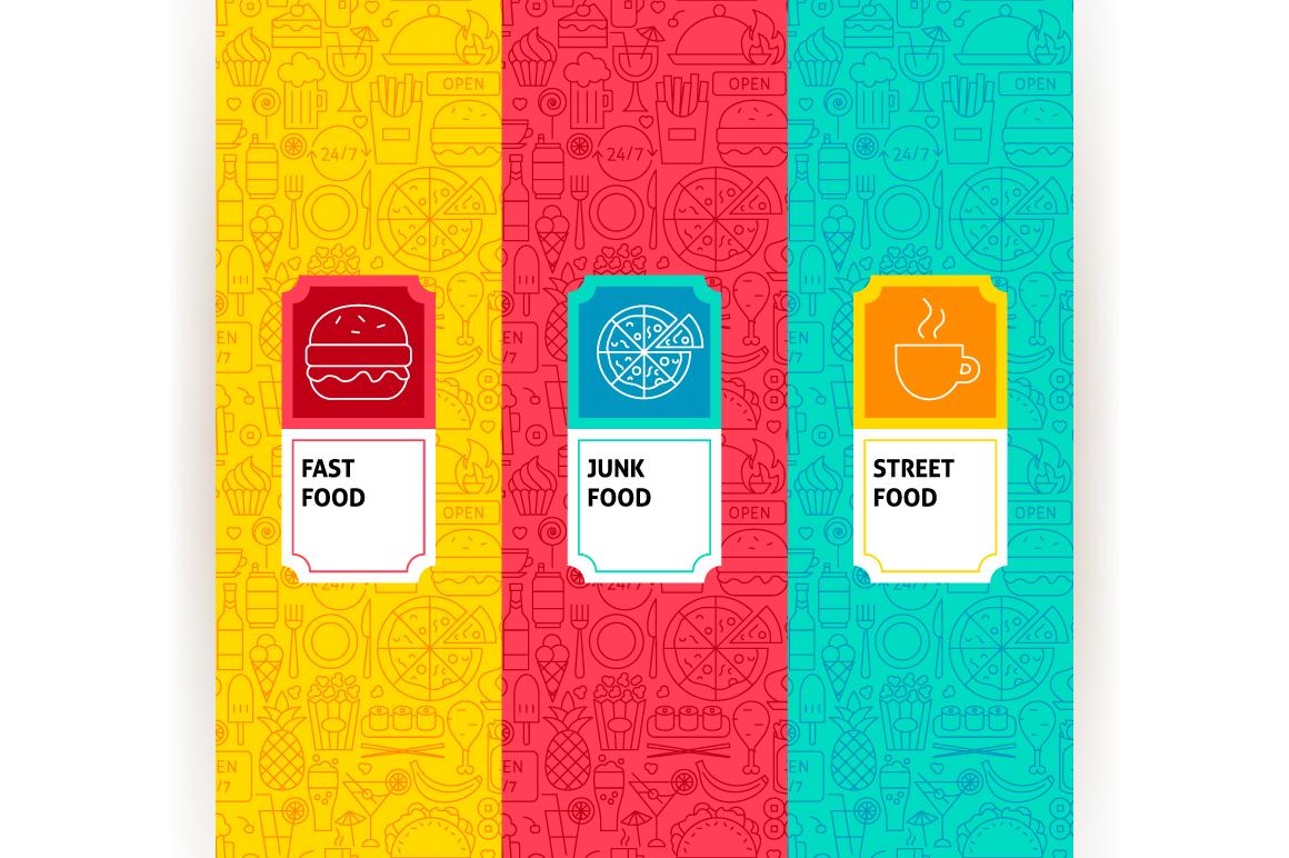 Fast Food Line Tile Patterns example image 2