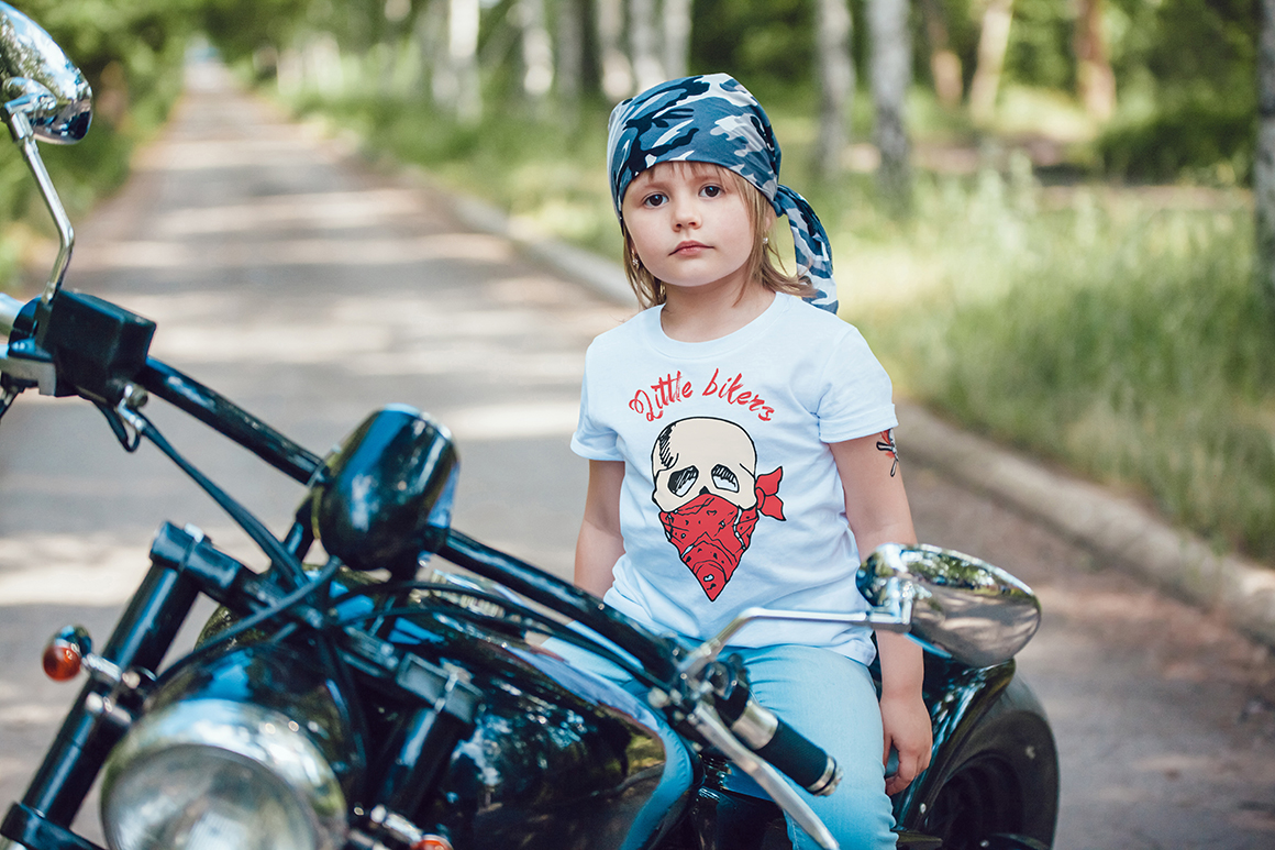 Little Bikers T-Shirt Mock-Up example image 10