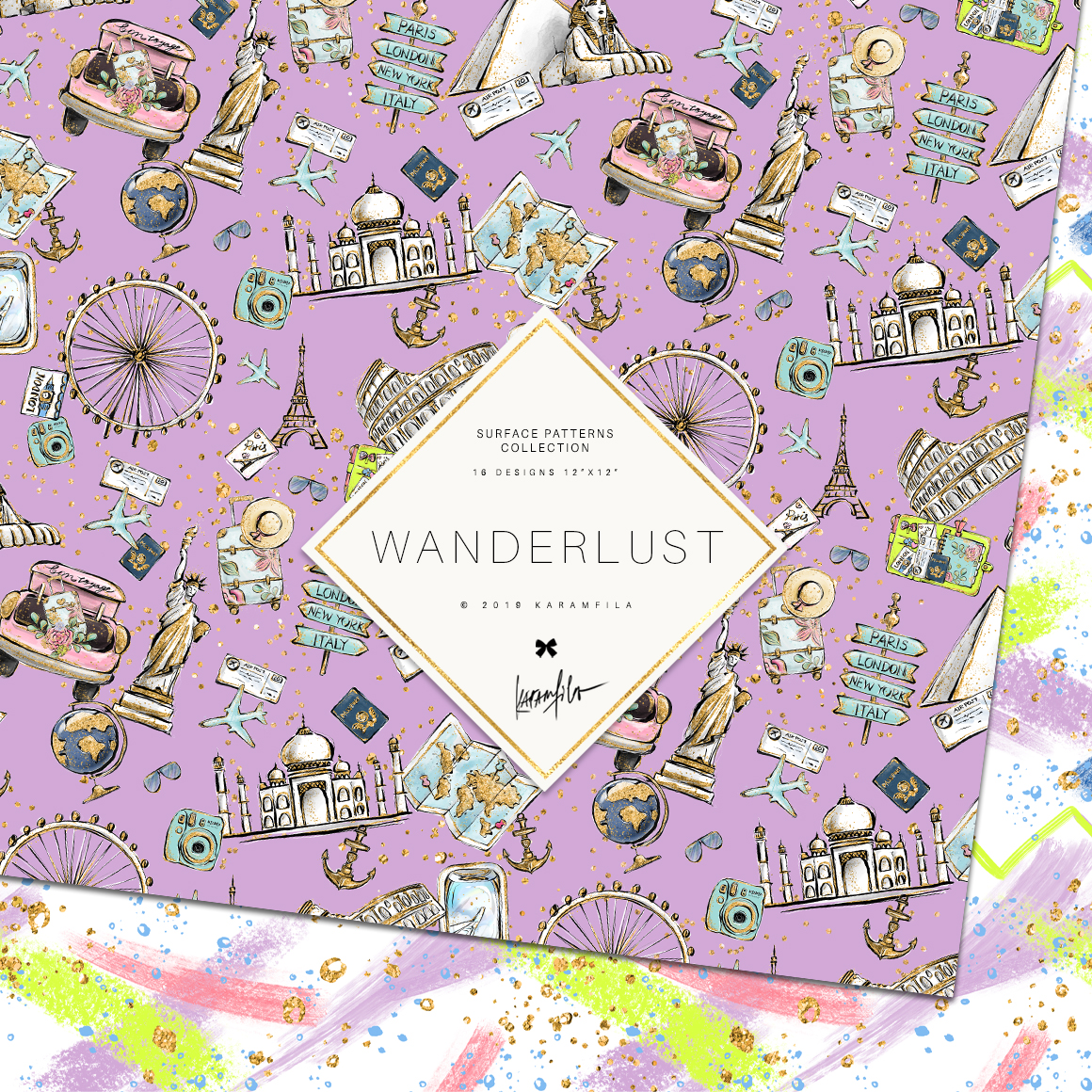 Wanderlust Patterns example image 6