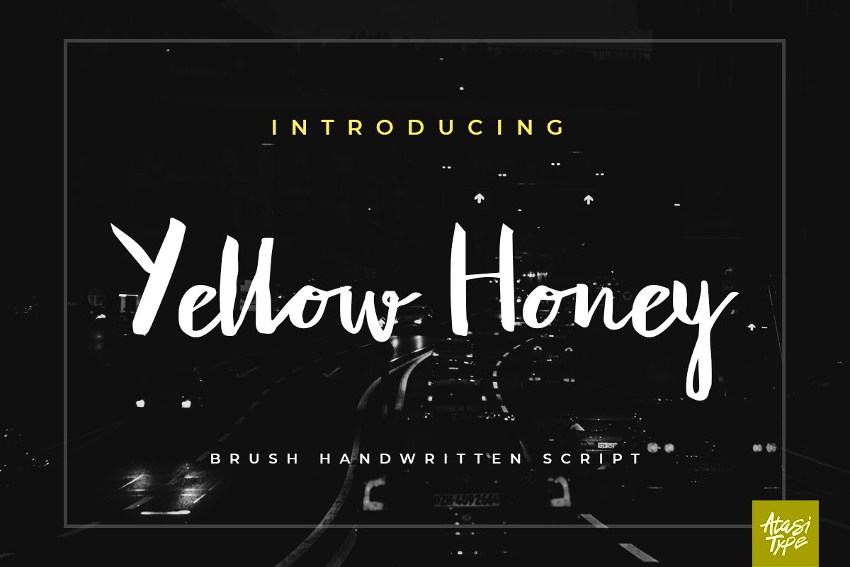 Yellow Honey Script example image 1