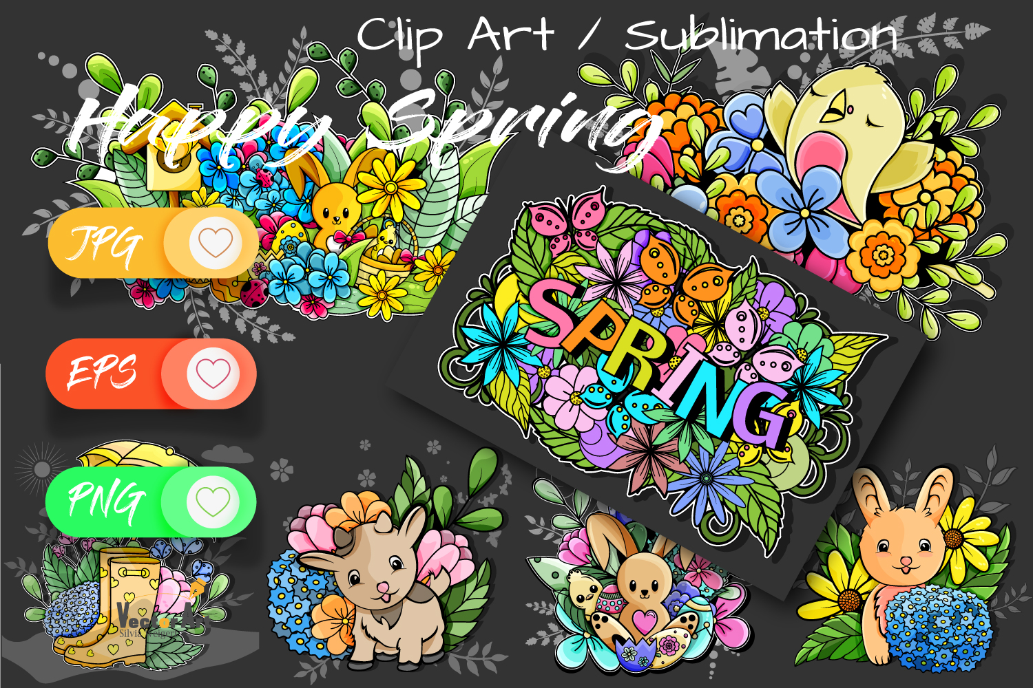 7x Easter and Spring - Mini Bundle - Print and Sublimation example image 2