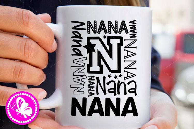 Nana svg clip art Family decor Personalized gift Cricut png example image 1
