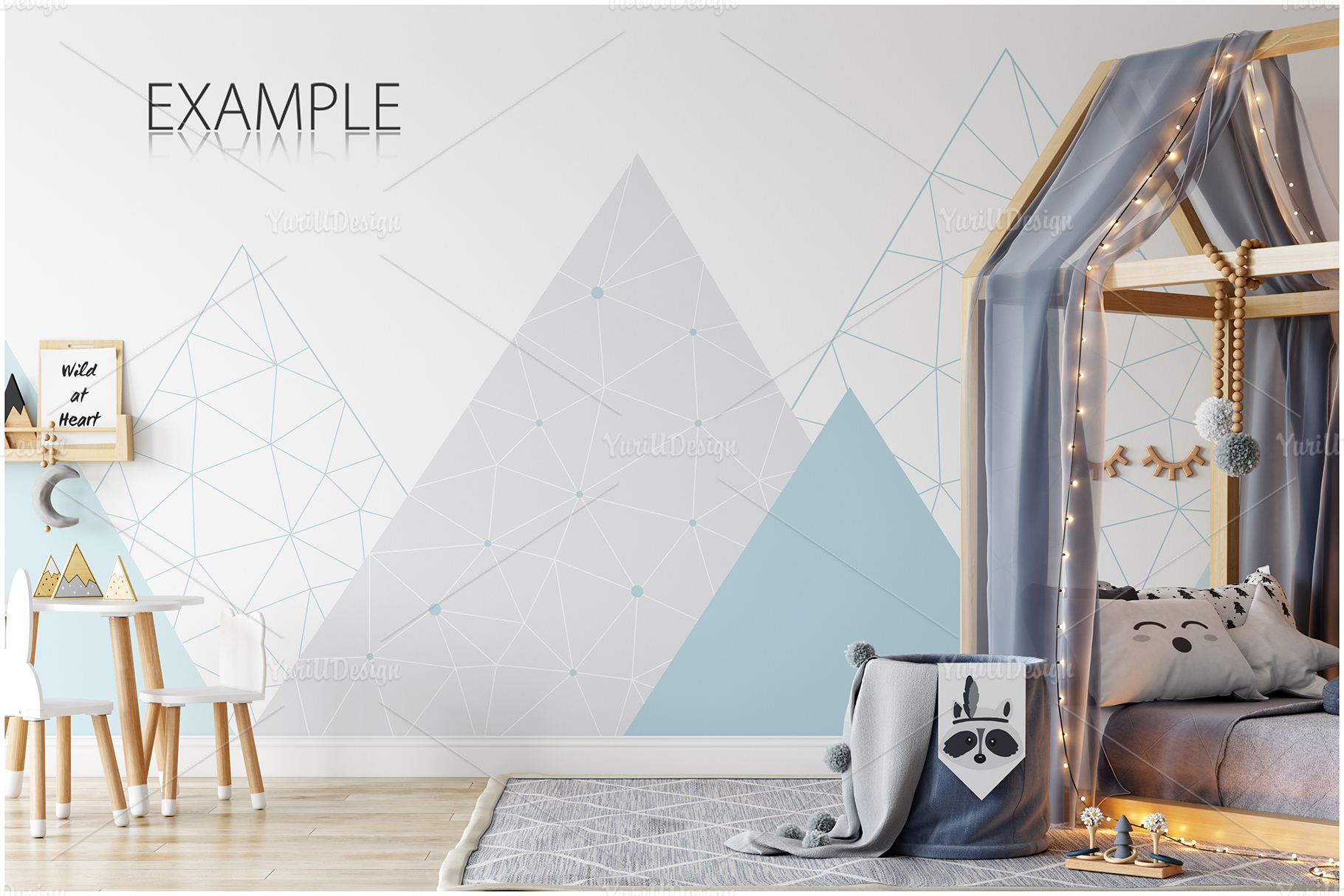 Kids Frames & Wall Mockup Bundle - 5 example image 13