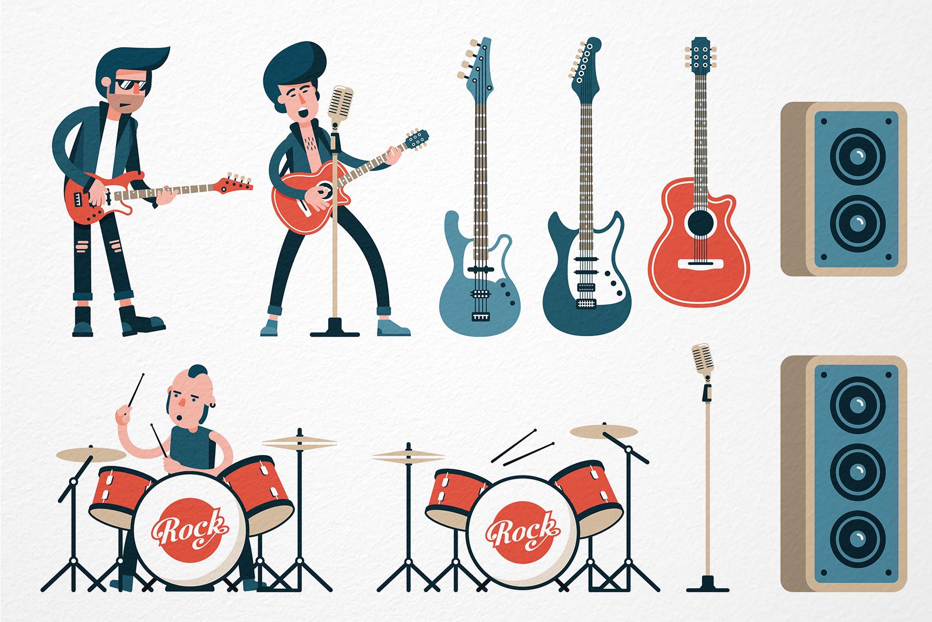 Rock Band Flat Set example image 2