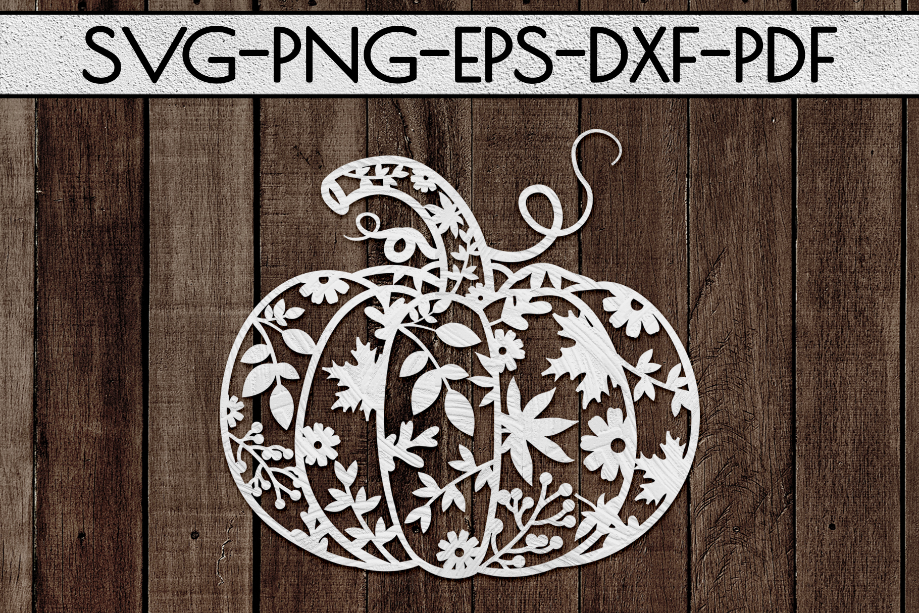 Pumpkin SVG Cutting File, Autumn, Fall DXF, EPS, PNG example image 2