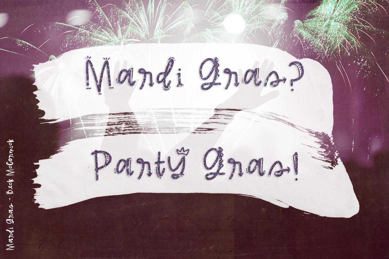 Mardi Gras Party Sans Font example image 5
