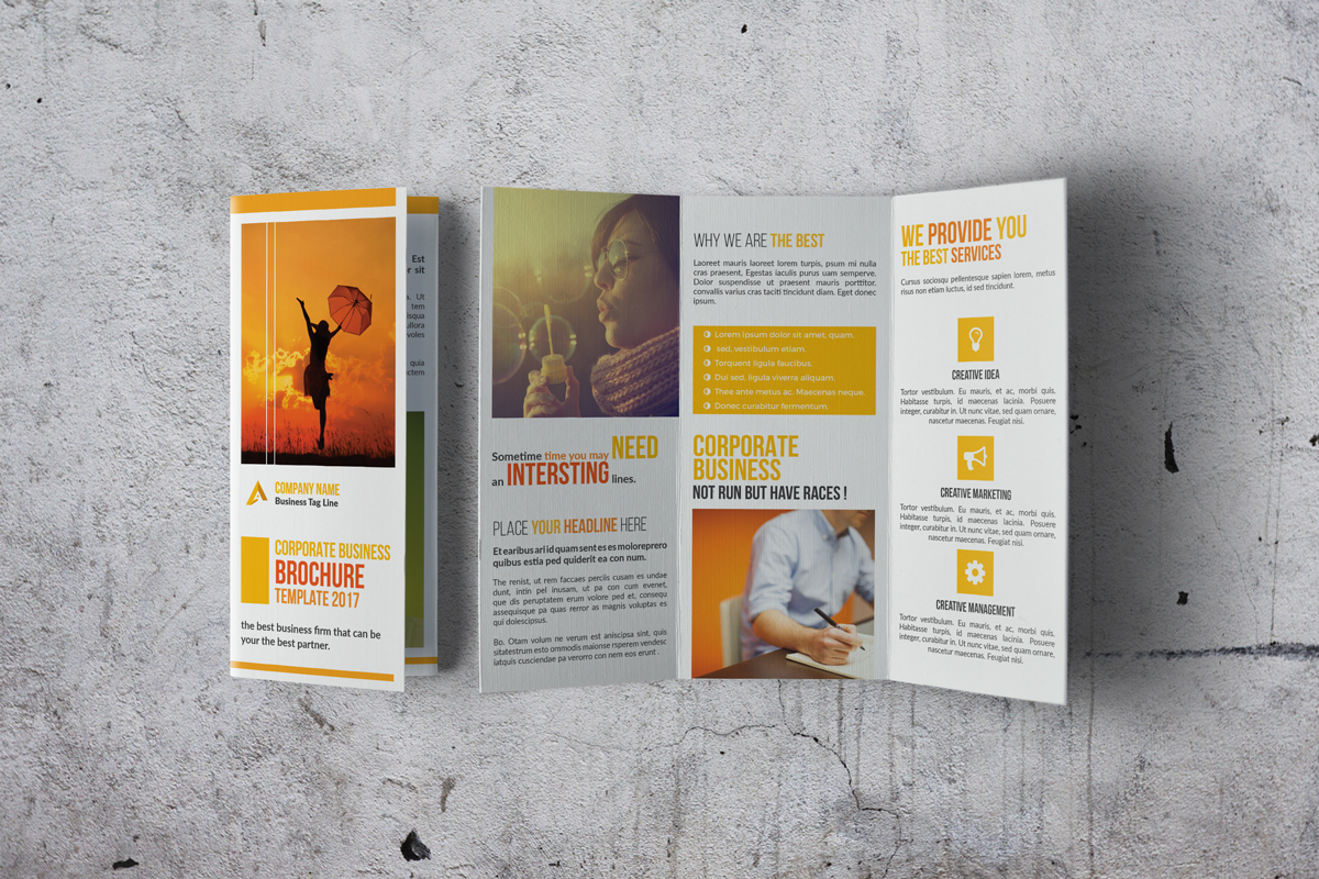 Trifold Corporate Brochure example image 7