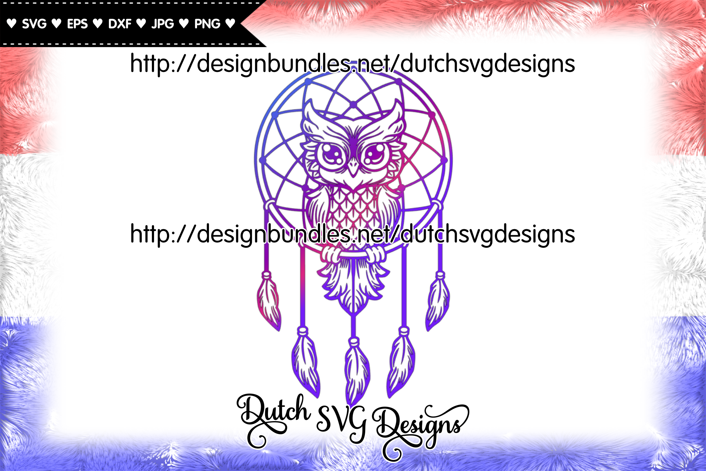 Dreamcatcher cut file with owl, dreamcatcher svg, owl svg example image 3