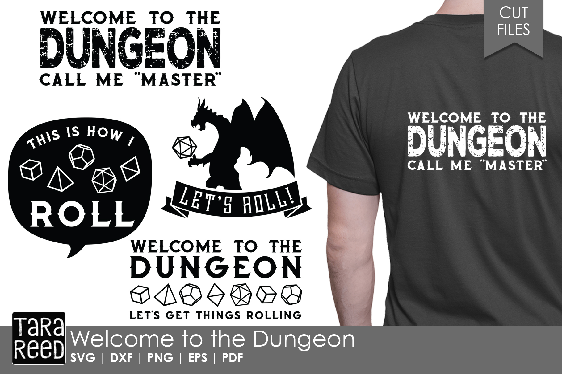 Welcome to the Dungeon - Game SVG and Cut Files for Crafters example image 1
