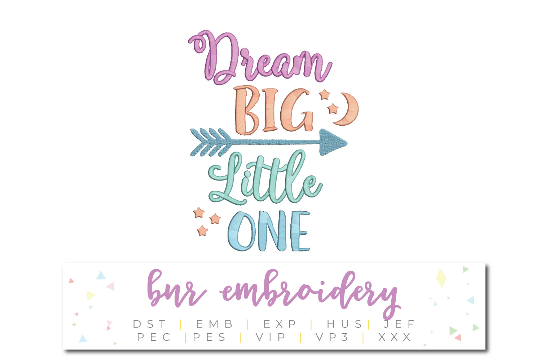 Dream Big Machine Embroidery Design example image 1