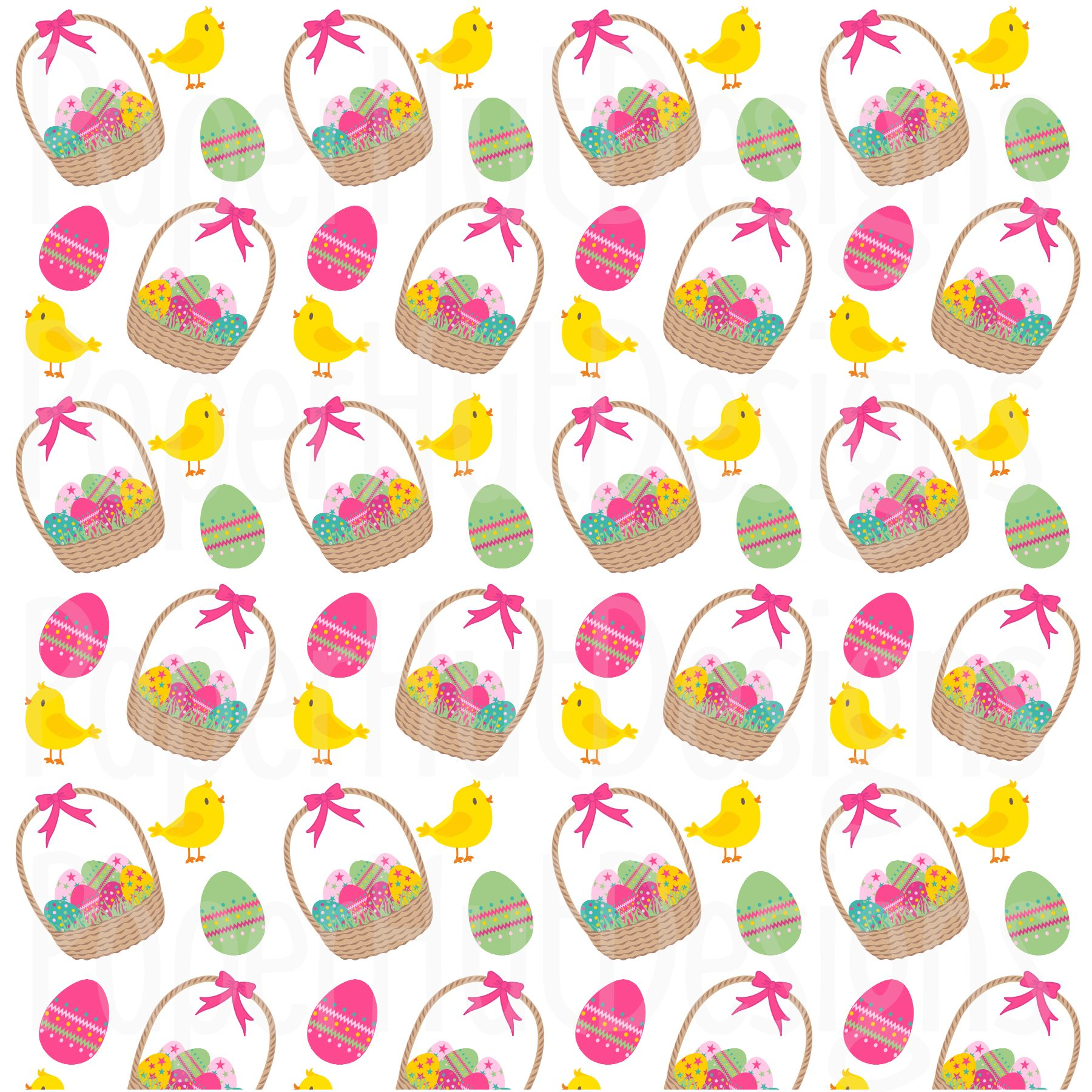 Easter Clipart and Digital Papers Set example image 2