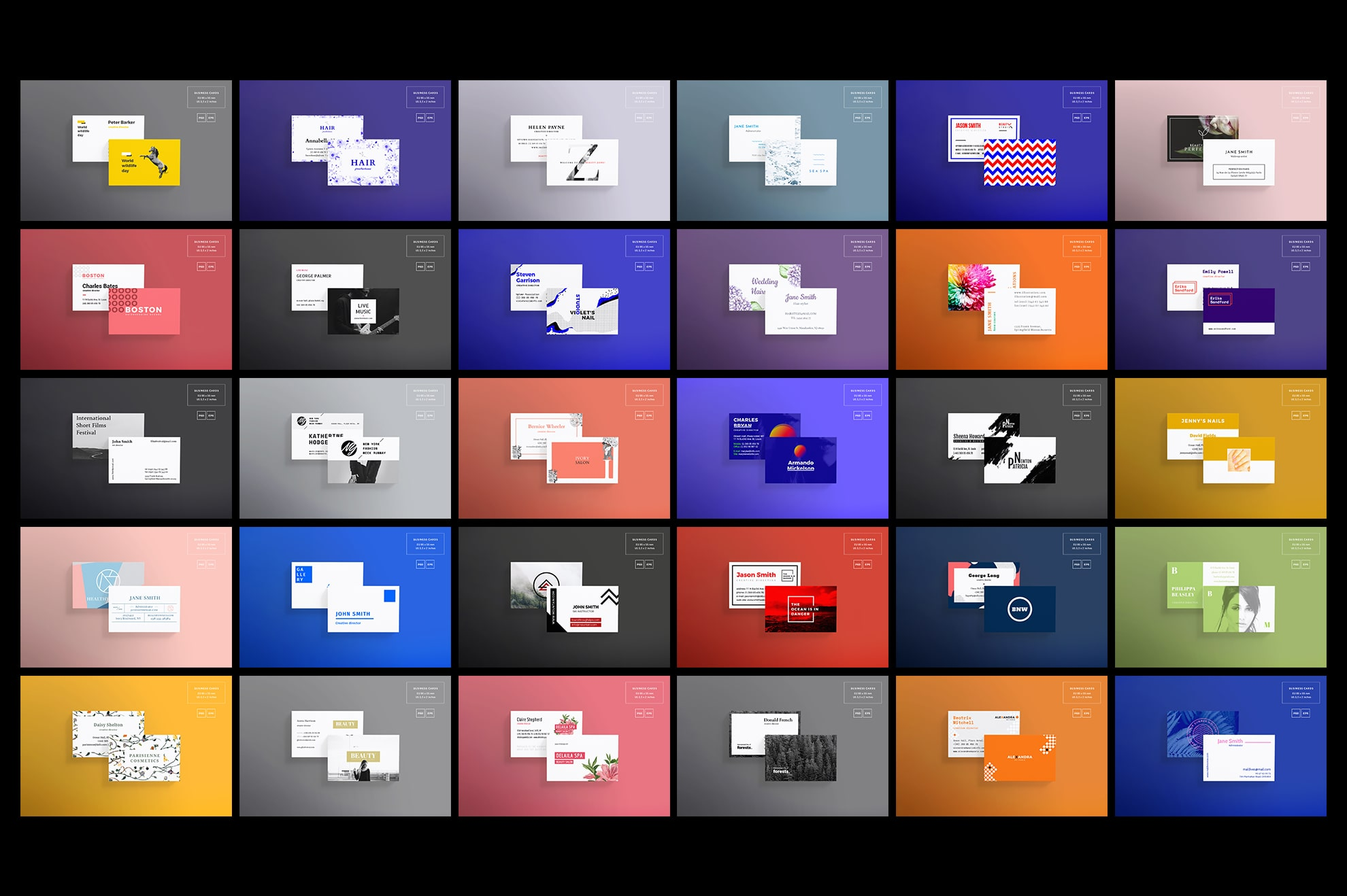 Business Card Design Templates Bundle SALE example image 4