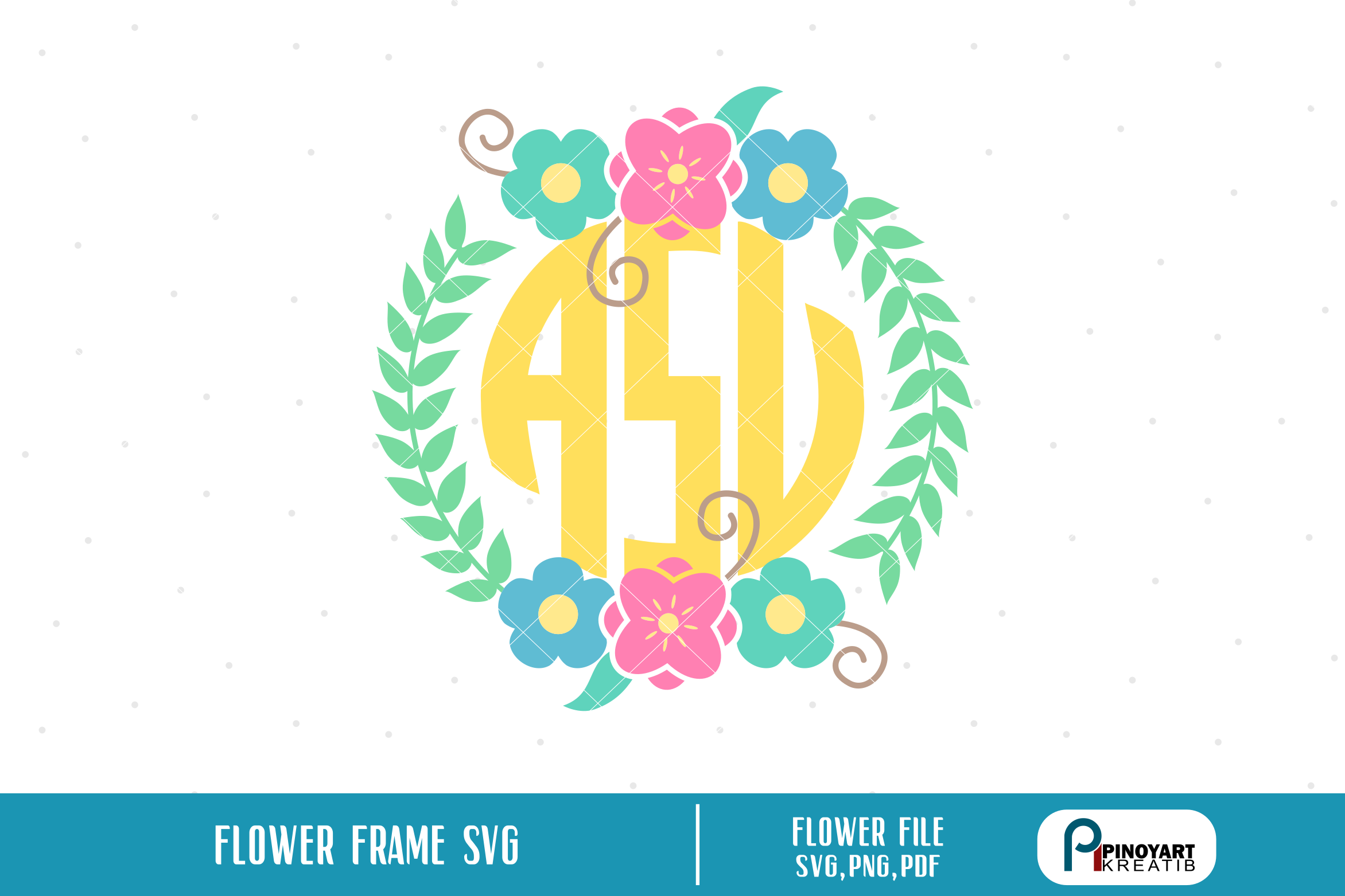 floral wreath svg, wreath svg, wreath svg file, flower svg example image 1