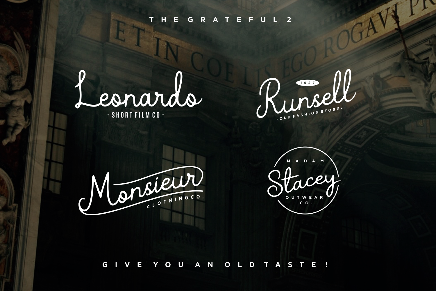 The Grateful Script | 4 Fonts example image 4