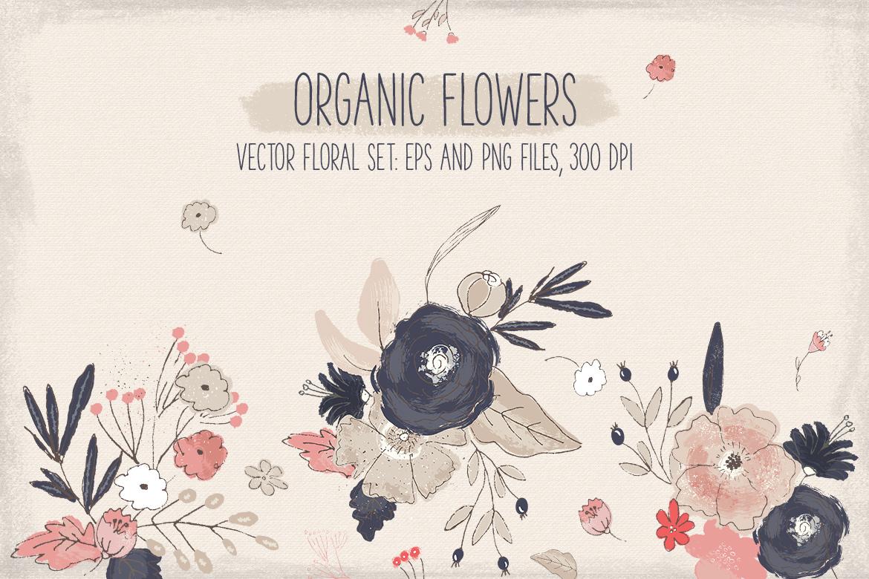 Organic Flowers example image 1
