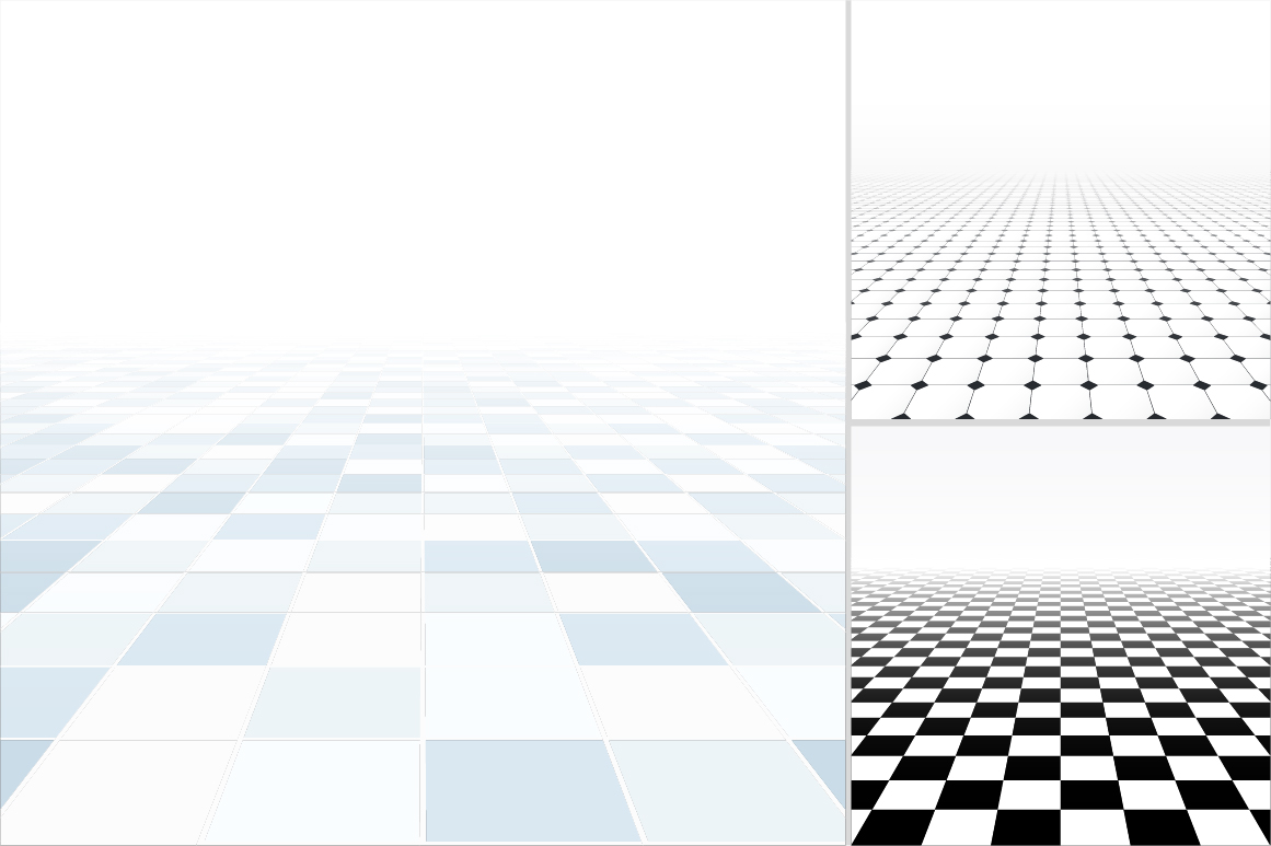 Tiled floor with perspective. example image 5
