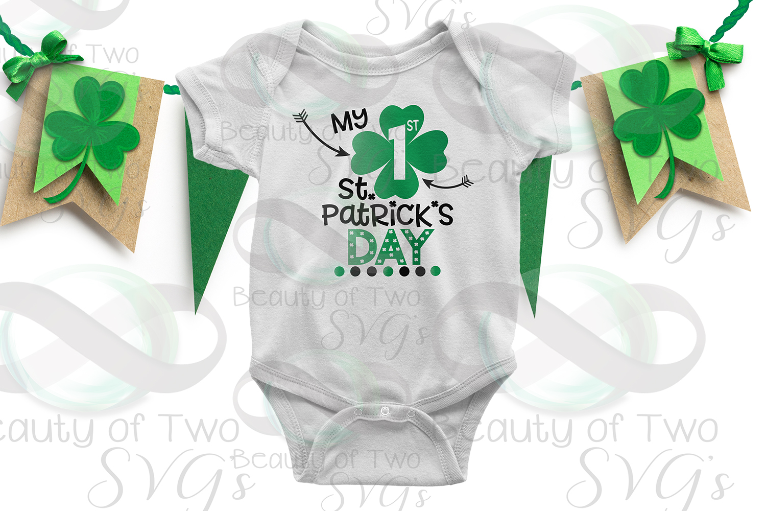 My First St Patricks Day Svg & Png, Baby St Patricks svg example image 2