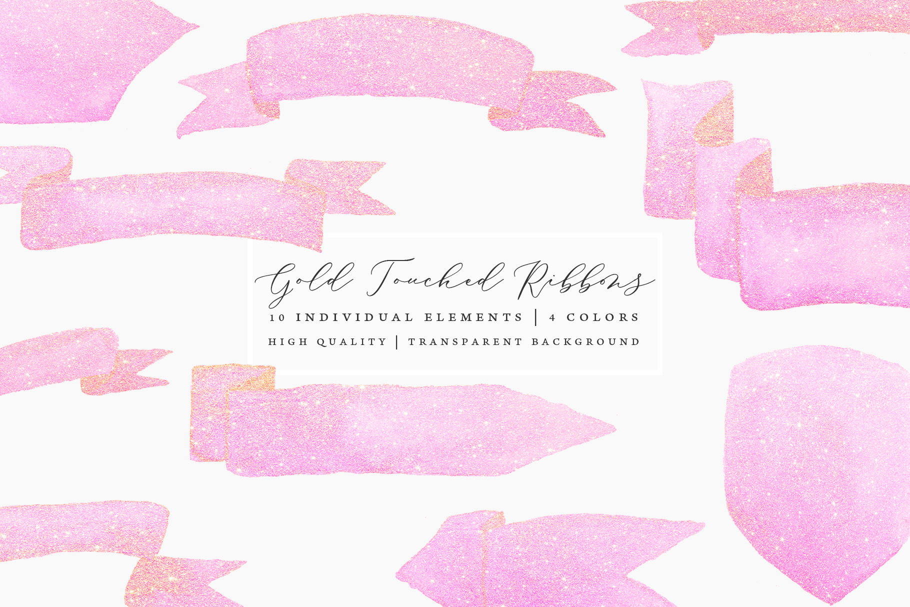 Gold Touched Ribbons - Blue, Pink, Gold example image 5