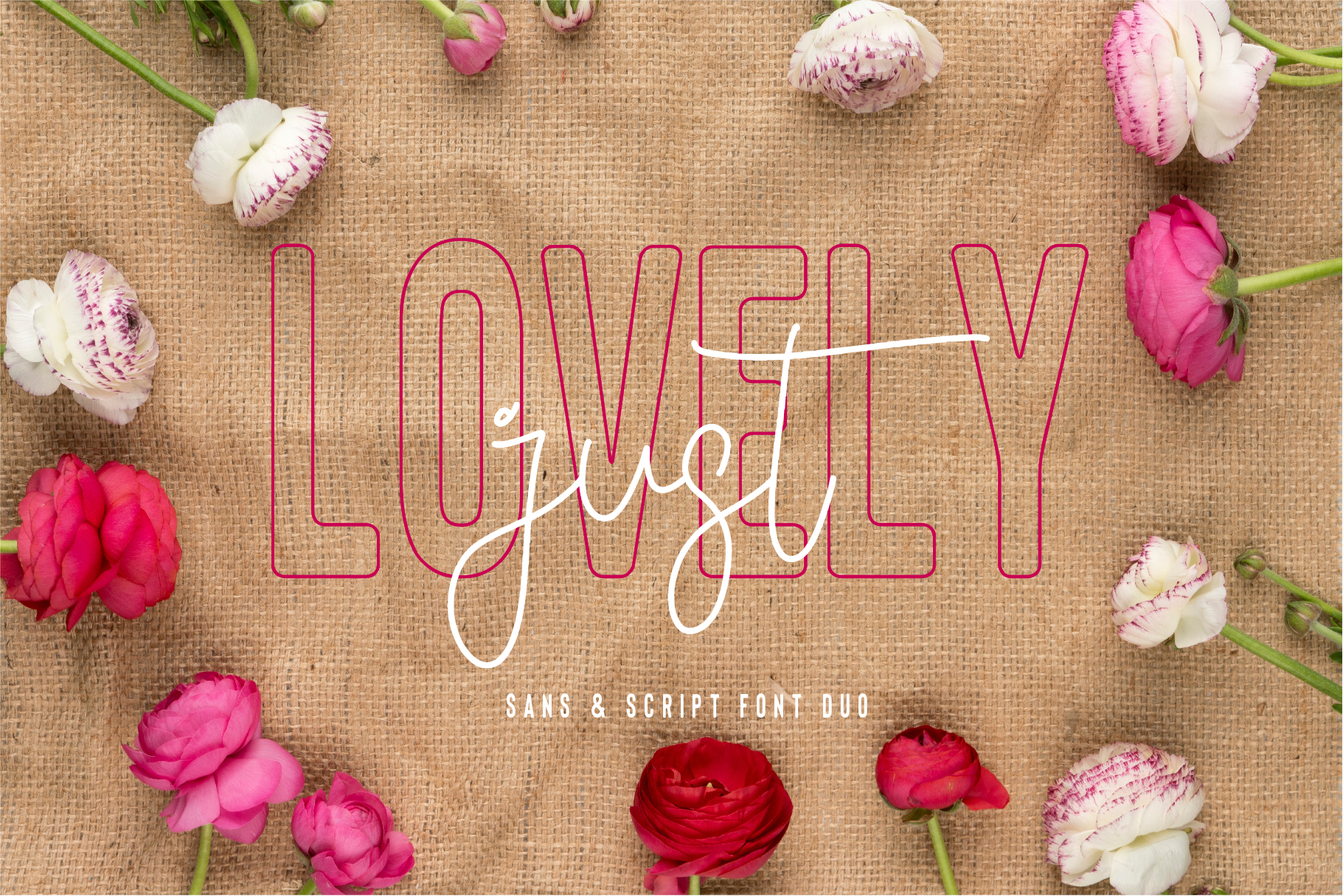 Floral Thunder Font Duo example image 3