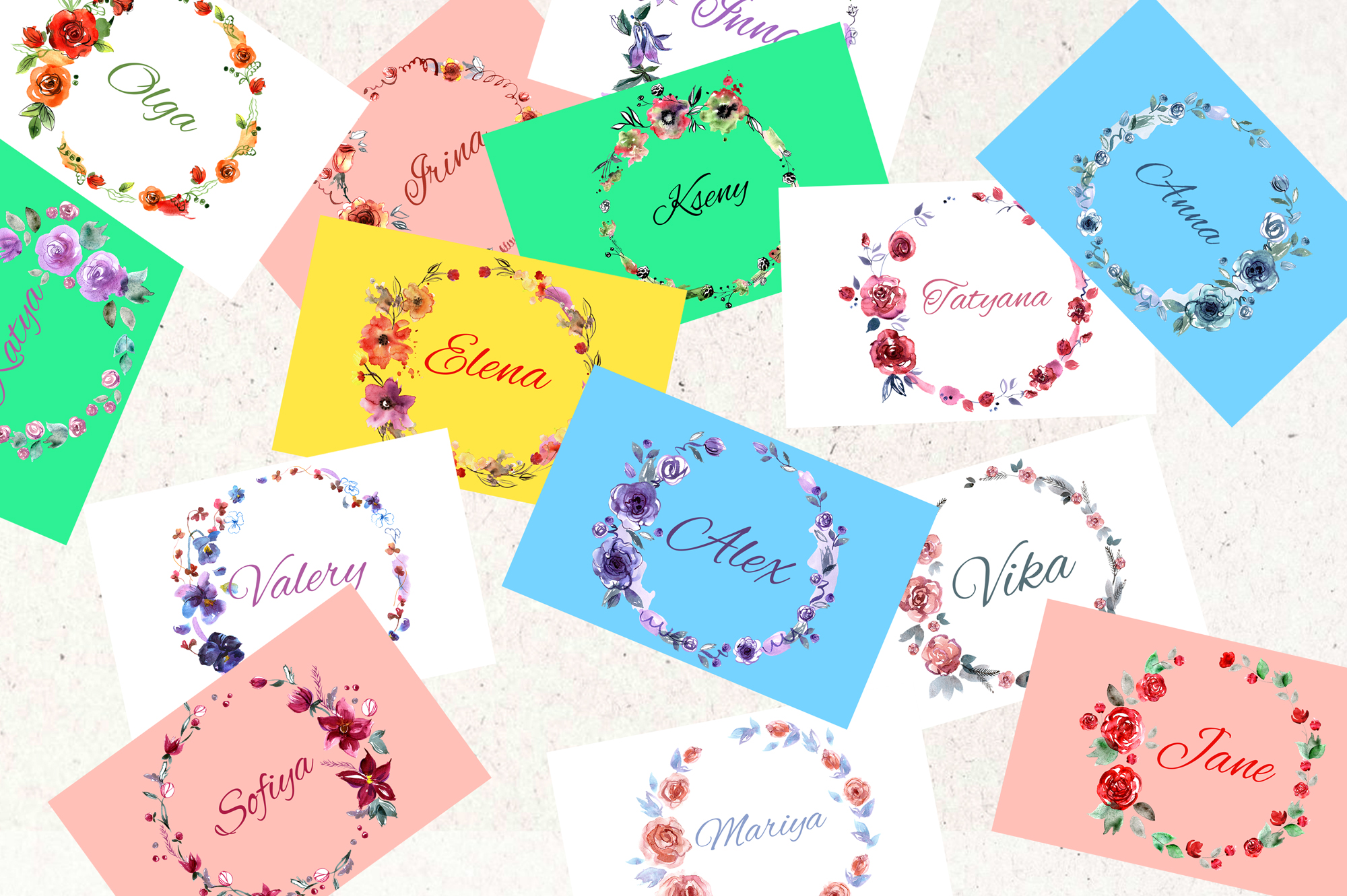 30 Watercolor Floral Wreaths example image 9