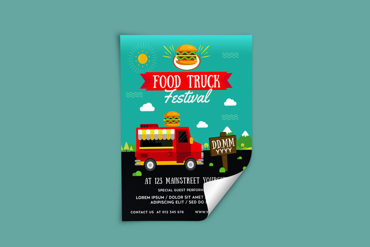 FOOD TRUCK FESTIVAL FLYER 1 example image 3