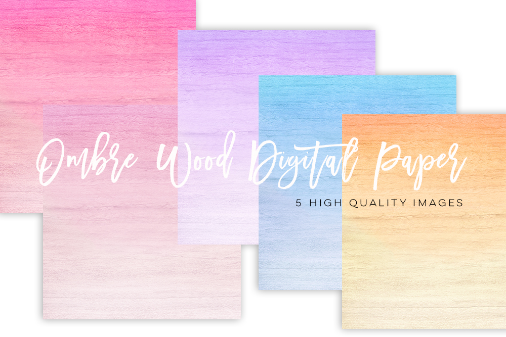 ombre texture paper pack, rainbow ombre paper, Pastel Ombre digital paper, Pink Gradient digital paper, Blue paper, yellow ombre paper lilac example image 2