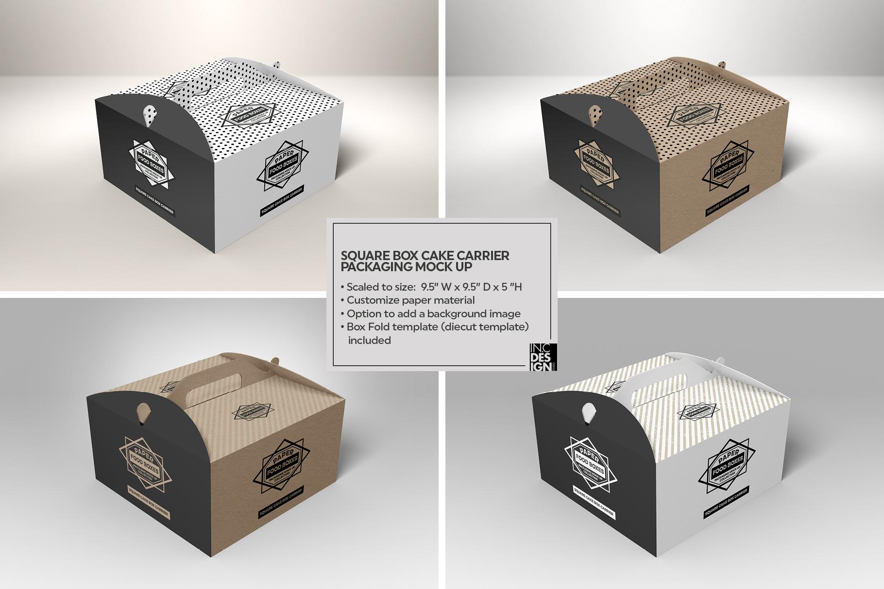 VOL.1 Food Box Packaging MockUps example image 12