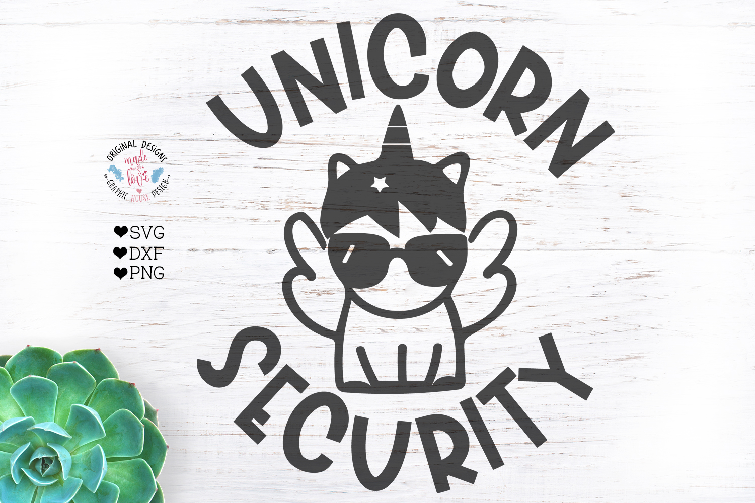 Unicorn Security Kids t-shirt Cut File - Kids svg example image 1