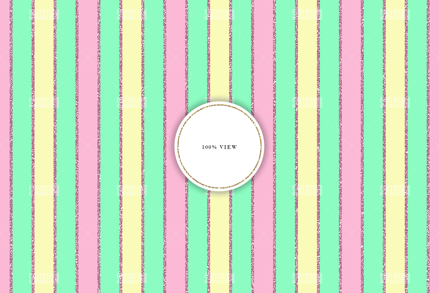 Cute Pastel Colors Tileable Geomteric Digital Paper example image 4
