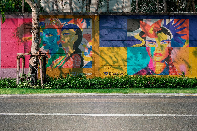 12 Realistic Mural Street Mockup - PSD example image 11
