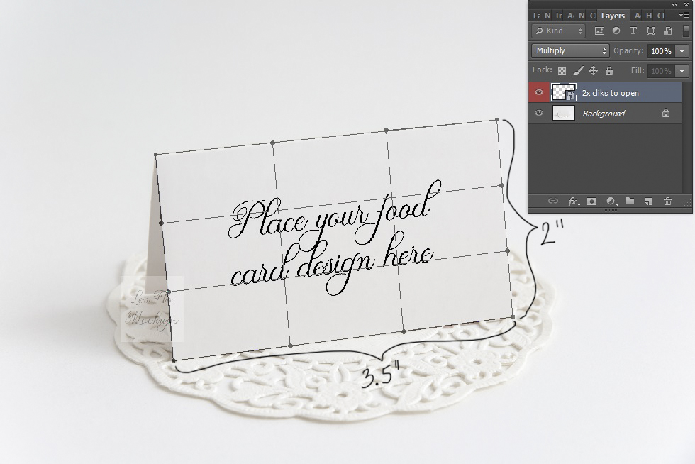 monochromatic blank card mock up stock photo table number food guest