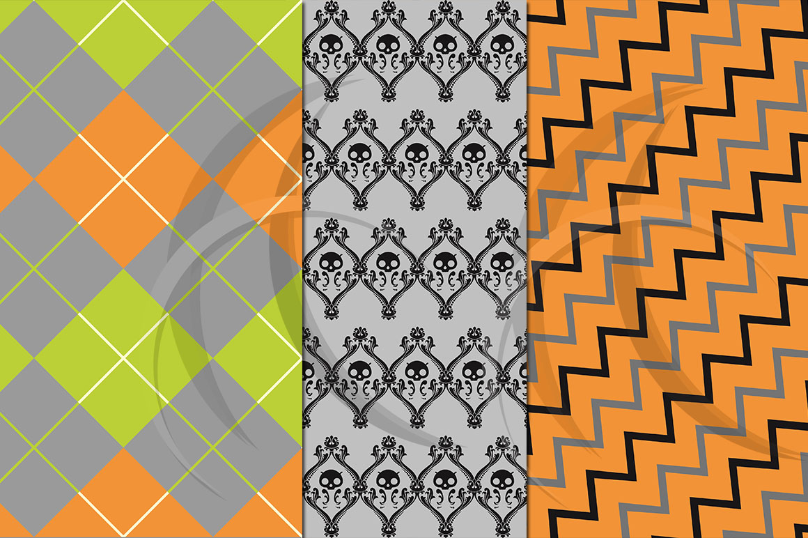 halloween digital paper / halloween clipart / high quality digital paper / 300 dpi in 2 different size / halloween patterns / JPG example image 2
