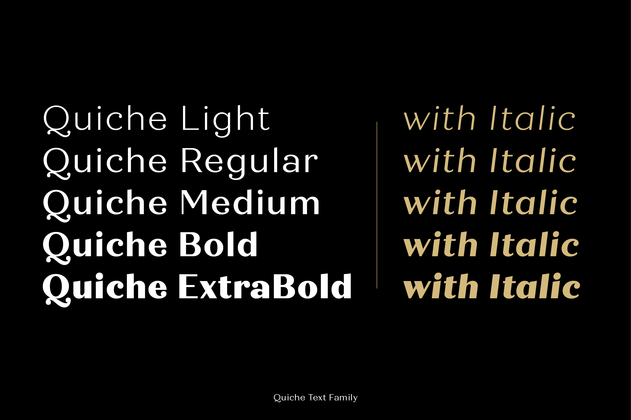 Quiche Font Family example image 12