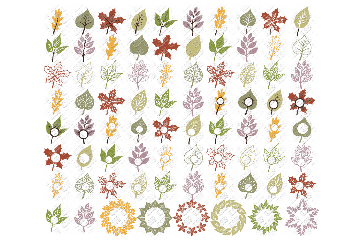 Leaf SVG Fall Leaves Autumn in SVG, DXF, PNG, EPS, JPEG example image 1