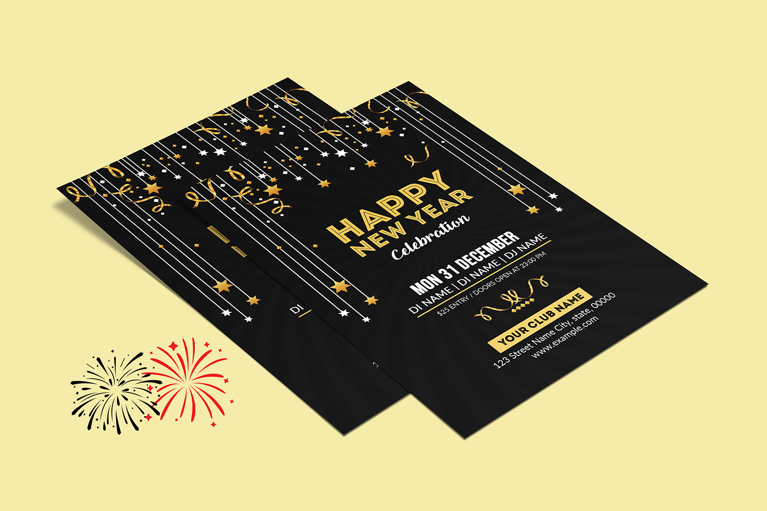 New Year Party Flyer example image 3