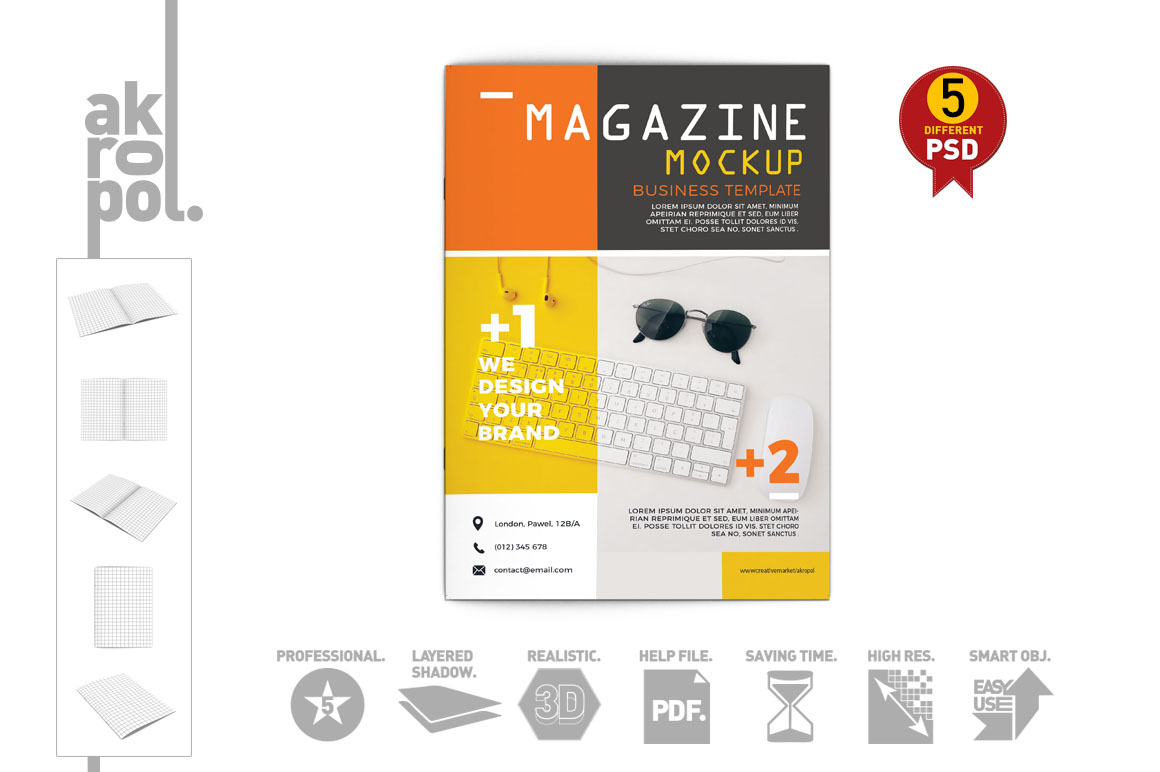 Magazine Mock up example image 4