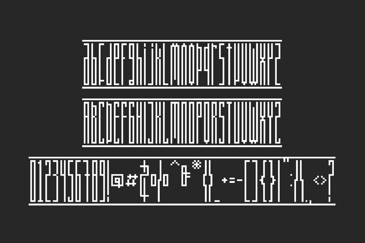 Longinus Typeface with two variations example image 6