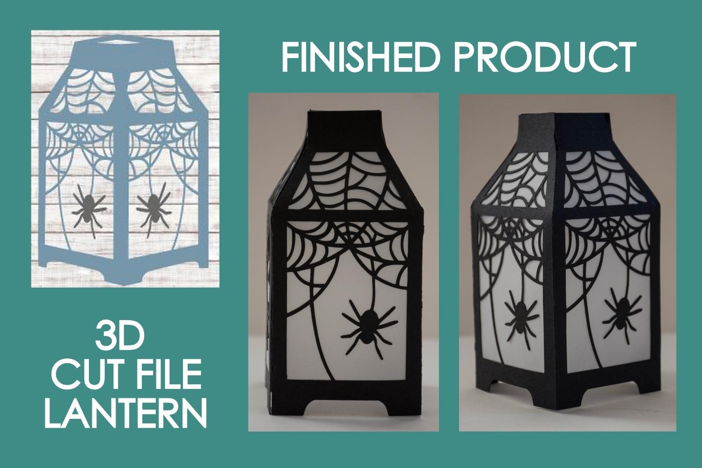 Halloween Lantern #08 Spiderweb #02 SVG Cut File example image 1