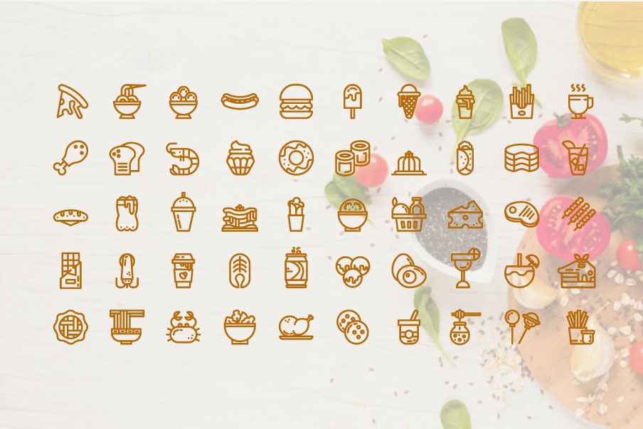 200 Food and Beverage Icon Pack example image 2